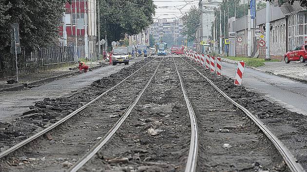 Dopravní omezení na ulici Ruská.
