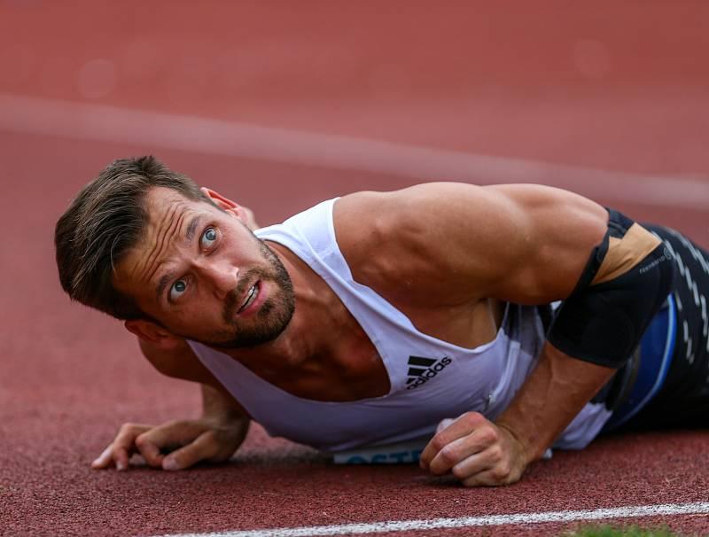 Atletický mítink IAAF World Challenge Zlatá tretra v Ostravě 20. června 2019. Na snímku Magnus Kirt z (EST).
