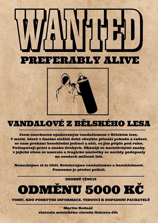 Starosta Jihu nabízí peníze. Hledá ty, kdo v Bělském lese malují hákové kříže.