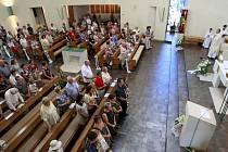 Bohoslužba v Den slovanských věrozvěstů Cyrila a Metoděje v kostele svatého Ducha v Ostravě-Zábřehu.