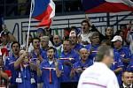 Podpora českých reprezentantů z hlediště byla znát.
