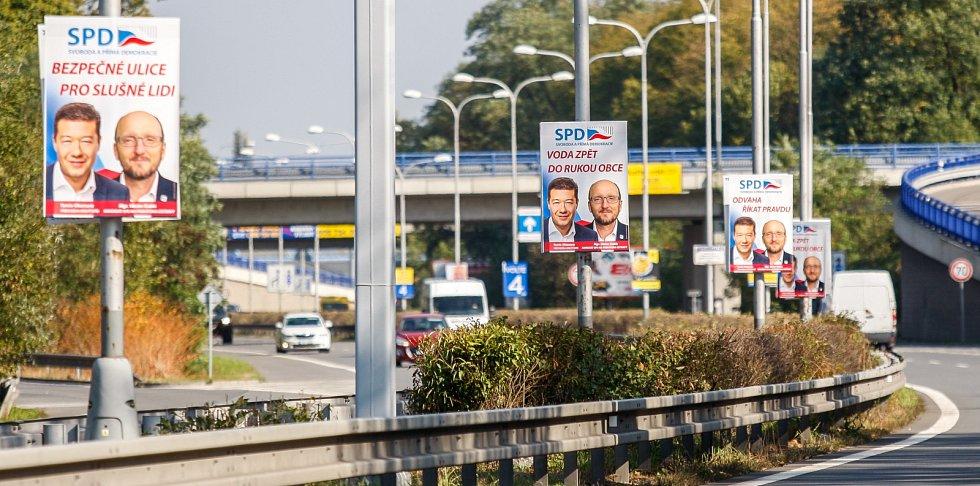 Ukázky některých volebních plakátů a billboardů v ostravských ulicích.