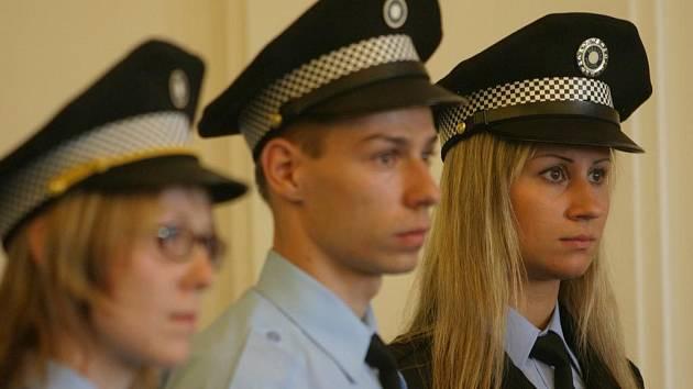 Slib nových ostravských městských policistů