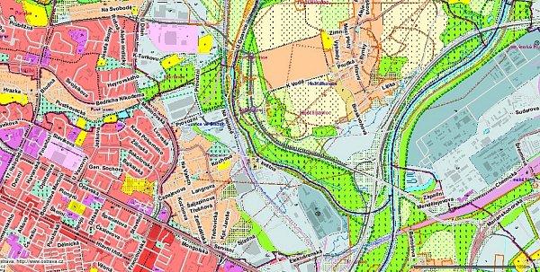 Severní spoj už je zaznačen vnovém Územním plánu města Ostravy.