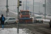 Sněhová nadílka v Ostravě, únor 2017.