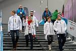 Olympijský festival u Ostravar Arény v Ostravě, neděle 18. února 2018, Jiří Kejval vlevo