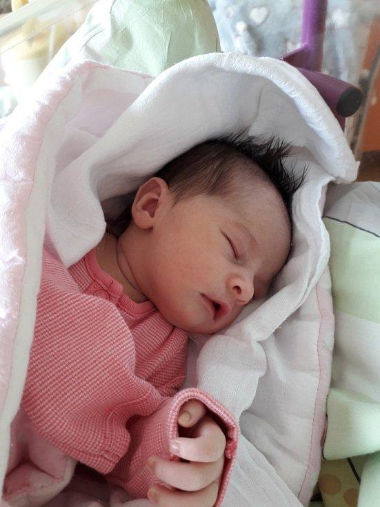 Eliška Kovácsová z Horní Suché, narozena 19. dubna 2021 v Havířově, míra 51 cm, váha 3290 g. Foto: Michaela Blahová