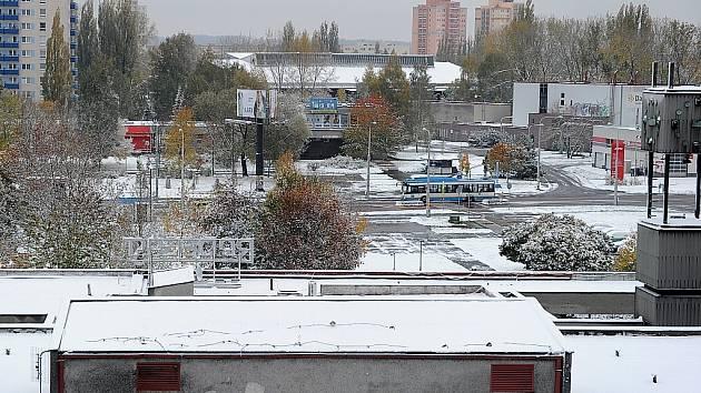 První sníh v Ostravě