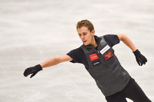 Michal Březina při tréninku.
