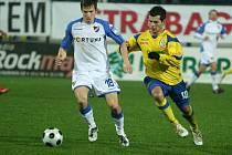 Z utkání Tescoma Zlín - Baník Ostrava