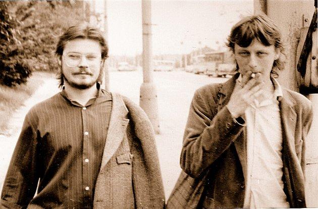 Jaromír Piskoř a Ivo Mludek vroce 1988.