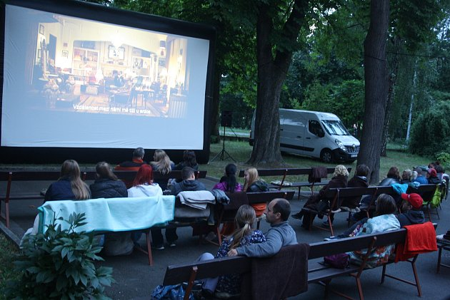 Letní kino vKrnově. Ilustrační foto.