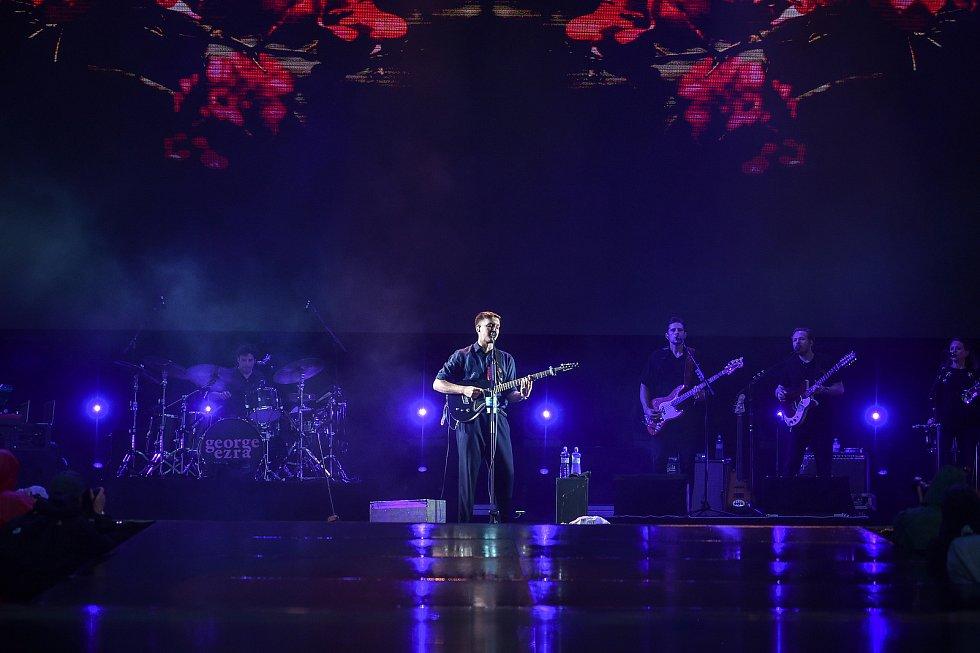 Hudební festival Colours of Ostrava 2018 v Dolní oblasti Vítkovice, 18. července 2018 v Ostravě. Na snímku George Ezra.