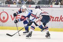 Utkání 36. kola hokejové extraligy: HC Vítkovice Ridera - HC Kometa Brno, 18. ledna 2019 v Ostravě. Na snímku (zleva) Tomáš Plekanec, Roman Szturc.