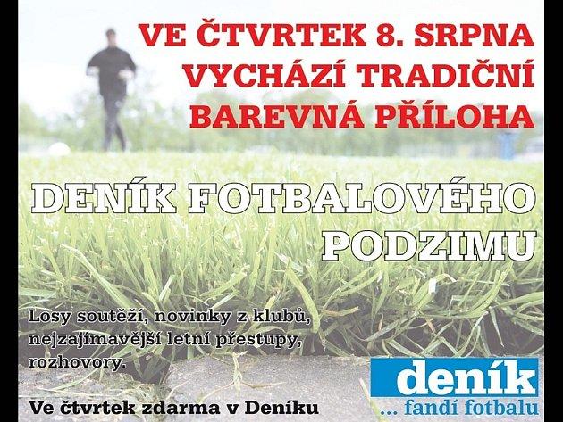 Ve čtvrtek vyjde příloha Deník fotbalového podzimu.