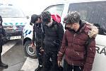 Zadržení migrantů v Ostravě.