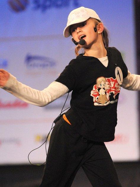 MiniMiss Aerobik - devítiletá Nela Šenková z Blanska.