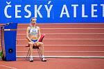 Halové mistrovství ČR mužů a žen v atletice, 23. února 2020 v Ostravě. Skok vysoký ženy Bára Sajdoková (TJ TŽ Třinec).