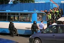 Fanoušci Bohemians měli v Ostravě silnou policejní asistenci