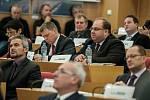 Ustavující zasedání krajského zastupitelstva v Ostravě.