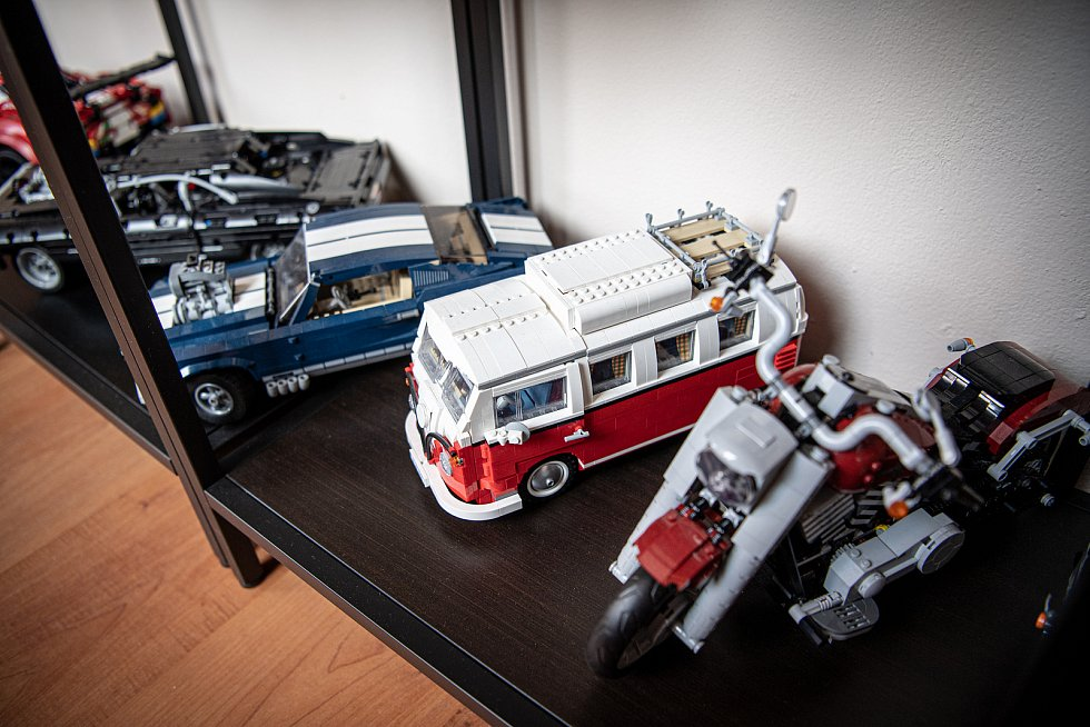 Sběratel má modely LEGO Technic, 30. března 2021 v Ostravě.