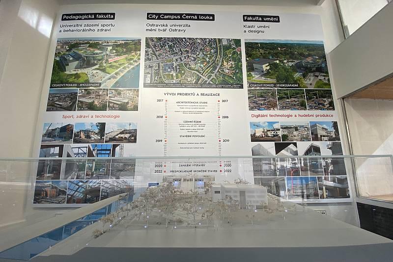 Výstava v MAPPA Ostrava, Nový kampus Ostravské univerzity, City Campus Černá louka, září 2021 v Ostravě.