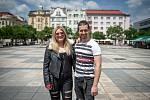Zpěvačka Eliška Mrázová (Elis Mraz) a Dalibor Mráz poskytli Deníku rozhovor, 15. června 2020 v Ostravě.