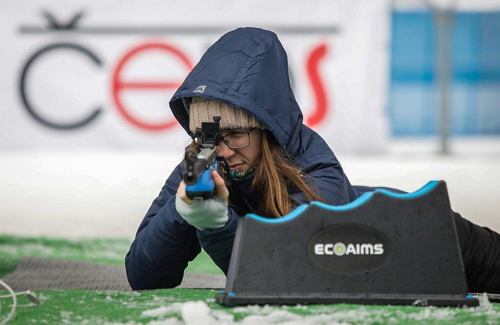 Olympijský festival u Ostravar Arény, neděle 18. února 2018 v Ostravě, biatlonová střelnice