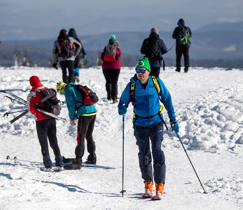 Zimní výstup na Lysou horu, 9. února 2020.