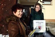 Komise s přenosnými urnami navštěvovaly lidi, kteří ze zdravotních důvodů nemohli osobně přijít.