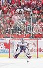 Čtvrtfinále play off hokejové extraligy - 3. zápas: HC Vítkovice Ridera - HC Oceláři Třinec, 24. března 2019 v Ostravě. Na snímku brankář Vítkovic Patrik Bartošák.