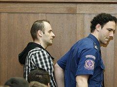 Tomáš Macek u ostravského soudu.