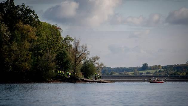 Těrlická přehrada, říjen 2019. Ilustrační foto.