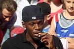 Usain Bolt na Čokoládové tretře.