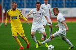 FC Baník Ostrava - FK Varnsdorf. Zleva Karel Knejzlík, Martin Sus, Tomáš Mičola