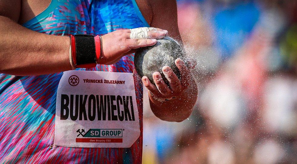 56. ročník atletického mítinku Zlatá tretra, který se konal 28. června 2017 v Ostravě. Na snímku Konrad Bukowiecki.