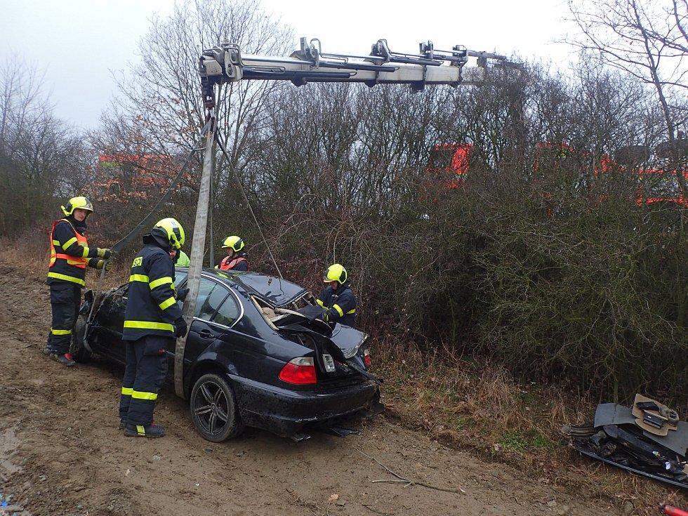 Nehoda s vyproštěním v Kyjovicích.