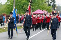 Setkání praporů dobrovolných hasičů v Nové Vsi.