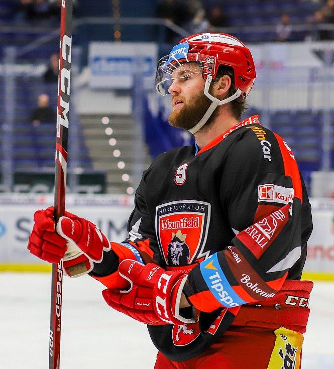 Utkání 39. kola hokejové extraligy: HC Vítkovice Ridera - Mountfield Hradec Králové, 24. ledna 2020 v Ostravě. Na snímku Petr Šidlík.