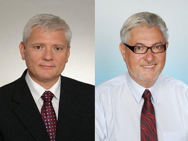 Kandidáti do senátu - vlevo Petr Mihálik, vpravo Peter Koliba.