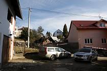 Místo výbuchu rodinného domu v Ostravě-Martinově.