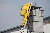Pračky čpavku jsou umístěny na střechách převážně zimních stadionů.