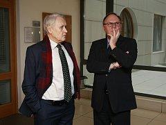 Jiří Lukeš (vlevo) kategoricky odmítl, že by ostravskému primátorovi Tomáši Macurovi nabídl úplatek.