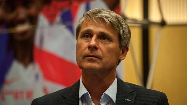 Jan Železný, tisková konference k mítinku Zlatá tretra 26. června 2017 v Ostravě.