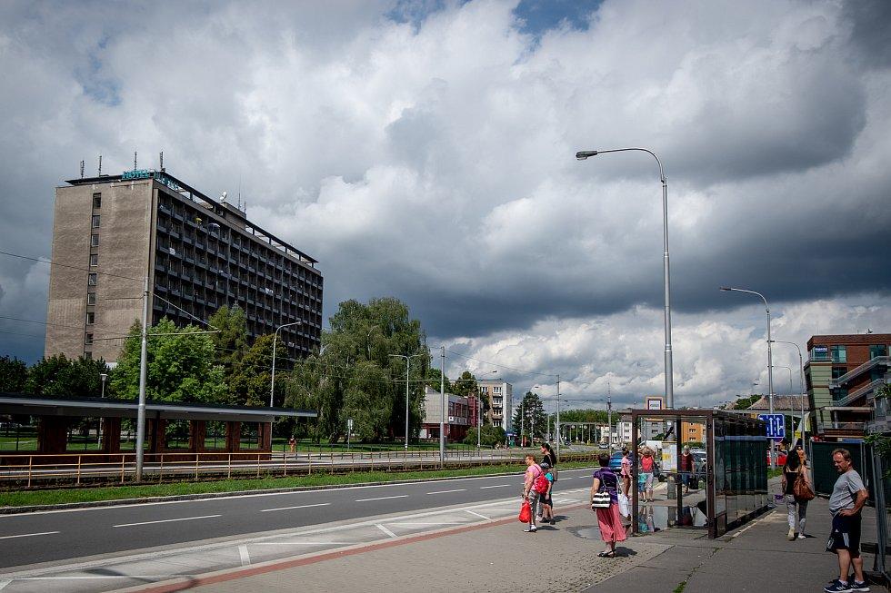 Hotelový dům Hlubina v Ostravě, srpen 2019.