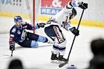 43. kolo hokejové extraligy mezi HC Vítkovice Ridera - HC Rytíři Kladno v Ostravě dne 2. února 2020. Na snímku (vpravo) Rastislav Dej z Vítkovic.