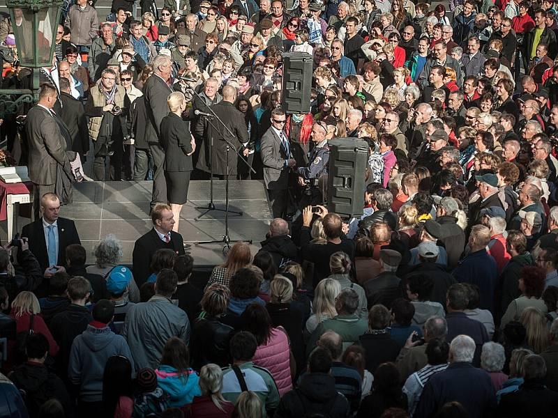 Prezident Miloš Zeman v Opavě, listopad 2014.