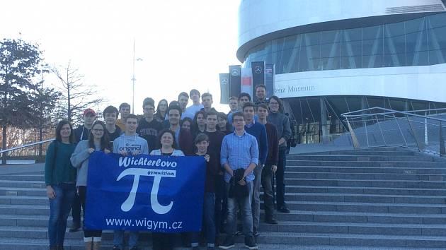 Studenti ostravského Wichterlova gymnázia v Evropském parlamentu.
