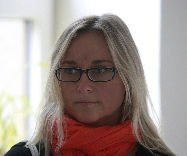 Svědkyně Lenka Hrbáčková.