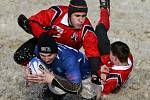 Snow rugby na Skalce.